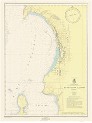 Burlington Harbor - 1953 Nautical Chart