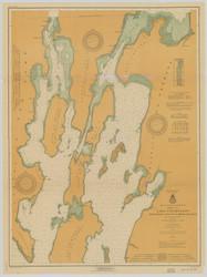Lake Champlain, Sheet 1 - 1917 Nautical Chart