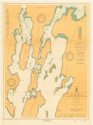 Lake Champlain, Sheet 1 - 1920 Nautical Chart