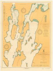 Lake Champlain, Sheet 1 - 1920 Nautical Chart
