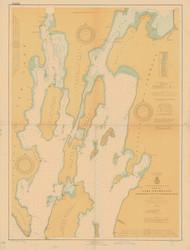 Lake Champlain, Sheet 1 - 1924 Nautical Chart