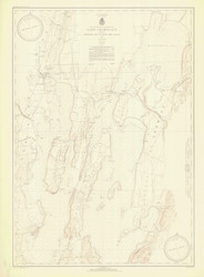 Lake Champlain, Sheet 1 - 1935 Nautical Chart