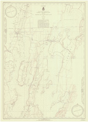 Lake Champlain, Sheet 1 - 1942 Nautical Chart
