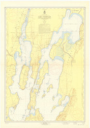 Lake Champlain, Sheet 1 - 1959 Nautical Chart