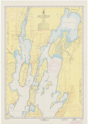 Lake Champlain, Sheet 1 - 1962 Nautical Chart