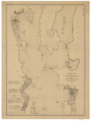 Lake Champlain, Sheet 2 - 1874 Nautical Chart