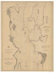 Lake Champlain, Sheet 2 - 1879 Nautical Chart