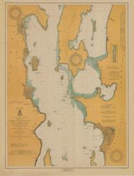 Lake Champlain, Sheet 2 - 1917 Nautical Chart
