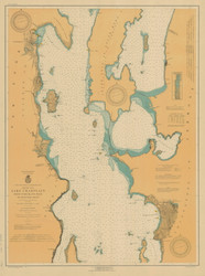 Lake Champlain, Sheet 2 - 1920 Nautical Chart