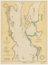 Lake Champlain, Sheet 2 - 1931 Nautical Chart
