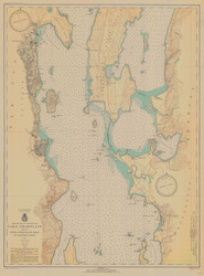 Lake Champlain, Sheet 2 - 1935 Nautical Chart