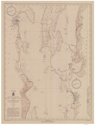 Lake Champlain, Sheet 2 - 1942 Nautical Chart