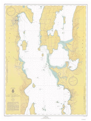 Lake Champlain, Sheet 2 - 1947 Nautical Chart