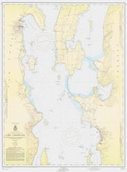 Lake Champlain, Sheet 2 - 1956 Nautical Chart