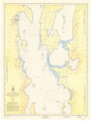 Lake Champlain, Sheet 2 - 1957 Nautical Chart