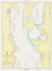 Lake Champlain, Sheet 2 - 1962 Nautical Chart