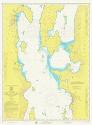 Lake Champlain, Sheet 2 - 1974 Nautical Chart
