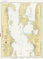 Lake Champlain, Sheet 2 - 1989 Nautical Chart