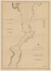 Lake Champlain, Sheet 3 - 1879 Nautical Chart