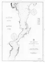 Lake Champlain, Sheet 3 - 1880 Nautical Chart