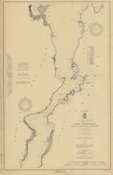 Lake Champlain, Sheet 3 - 1920 Nautical Chart