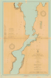 Lake Champlain, Sheet 3 - 1924 Nautical Chart