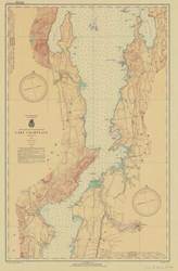 Lake Champlain, Sheet 3 - 1937 Nautical Chart