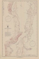 Lake Champlain, Sheet 3 - 1941 Nautical Chart