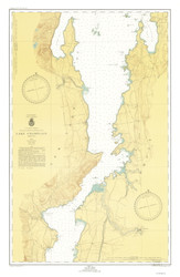 Lake Champlain, Sheet 3 - 1947 Nautical Chart