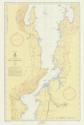 Lake Champlain, Sheet 3 - 1953 Nautical Chart
