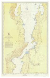 Lake Champlain, Sheet 3 - 1956 Nautical Chart