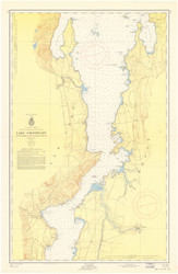 Lake Champlain, Sheet 3 - 1957 Nautical Chart