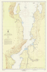 Lake Champlain, Sheet 3 - 1959 Nautical Chart