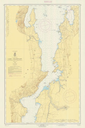 Lake Champlain, Sheet 3 - 1962 Nautical Chart