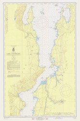 Lake Champlain, Sheet 3 - 1968 Nautical Chart