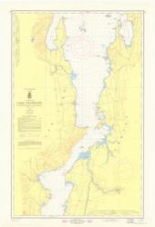 Lake Champlain, Sheet 3 - 1969 Nautical Chart