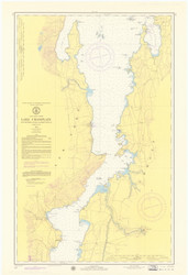 Lake Champlain, Sheet 3 - 1974 Nautical Chart