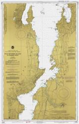 Lake Champlain, Sheet 3 - 1977 Nautical Chart