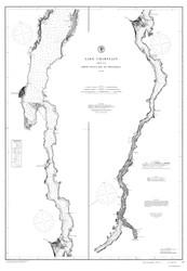 Lake Champlain, Sheet 4 - 1874 Nautical Chart