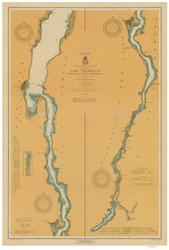 Lake Champlain, Sheet 4 - 1917 Nautical Chart