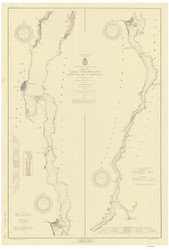 Lake Champlain, Sheet 4 - 1920 Nautical Chart