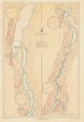 Lake Champlain, Sheet 4 - 1936 Nautical Chart