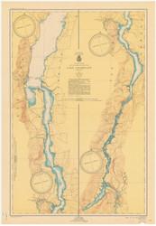 Lake Champlain, Sheet 4 - 1950 Nautical Chart
