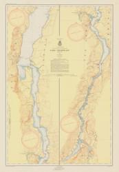 Lake Champlain, Sheet 4 - 1953 Nautical Chart