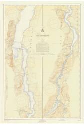 Lake Champlain, Sheet 4 - 1957a Nautical Chart