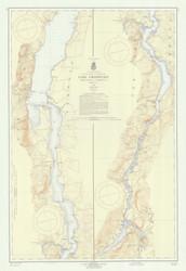 Lake Champlain, Sheet 4 - 1959 Nautical Chart