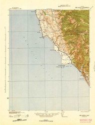 Ano Nuevo, California 1942 (1942) USGS Old Topo Map 15x15 Quad