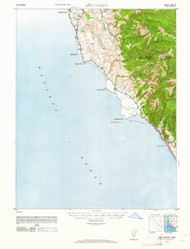 Ano Nuevo, California 1948 (1961) USGS Old Topo Map 15x15 Quad