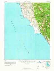Ano Nuevo, California 1948 (1964) USGS Old Topo Map 15x15 Quad