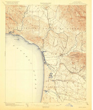 Arroyo Grande, California 1897 (1913) USGS Old Topo Map 15x15 Quad